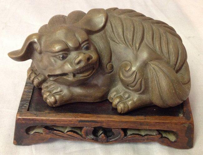 Antique Zisha Animal Paperweight