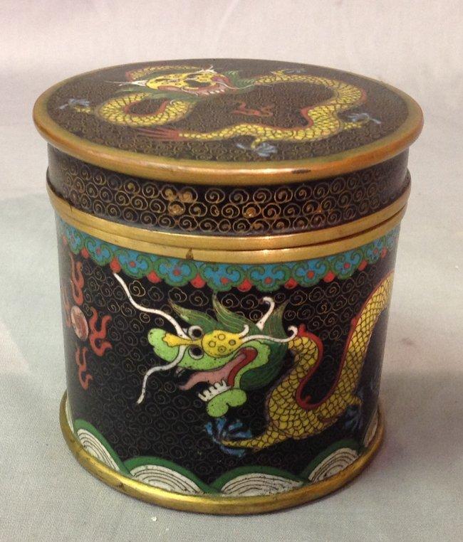 Qing Chinese Cloisonne Dragon Box