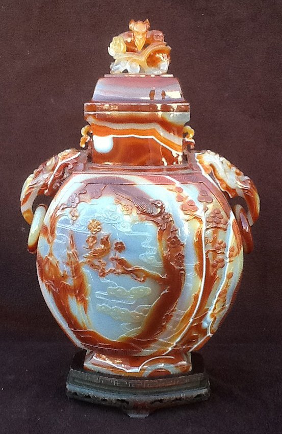 Large Agate Moon Flask
