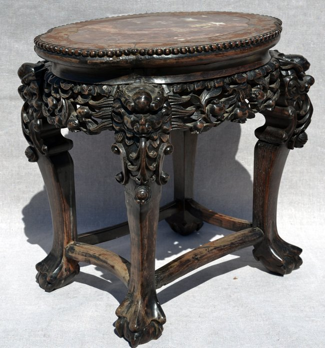 18th C. Antique Chinese Hardwood Stand