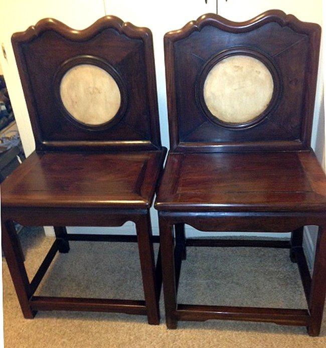 Pair of Antique Chinese Rosewood Chair