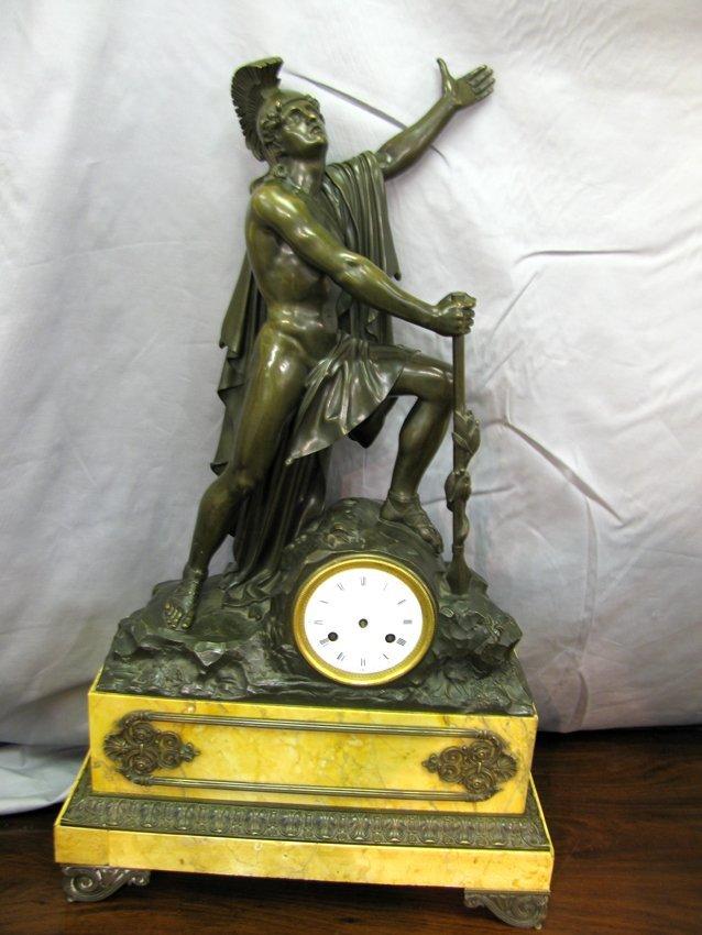 19th C Roman Bronze General Clock