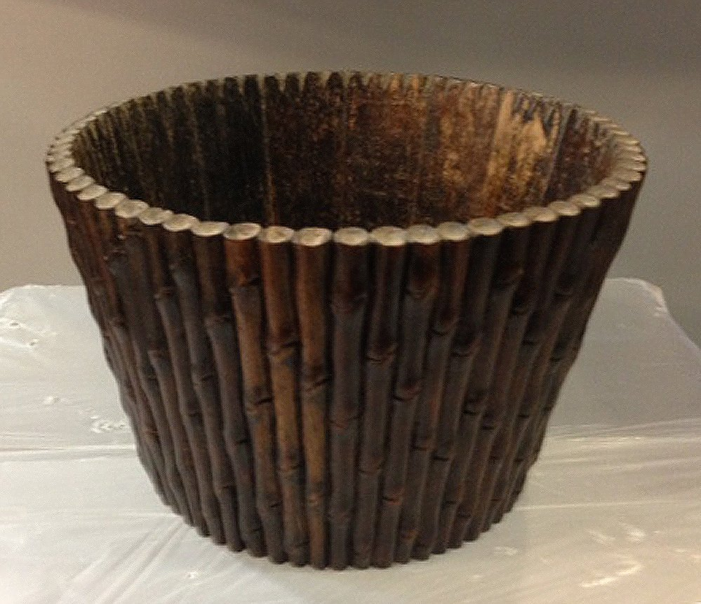 Antique rosewood bamboo planter