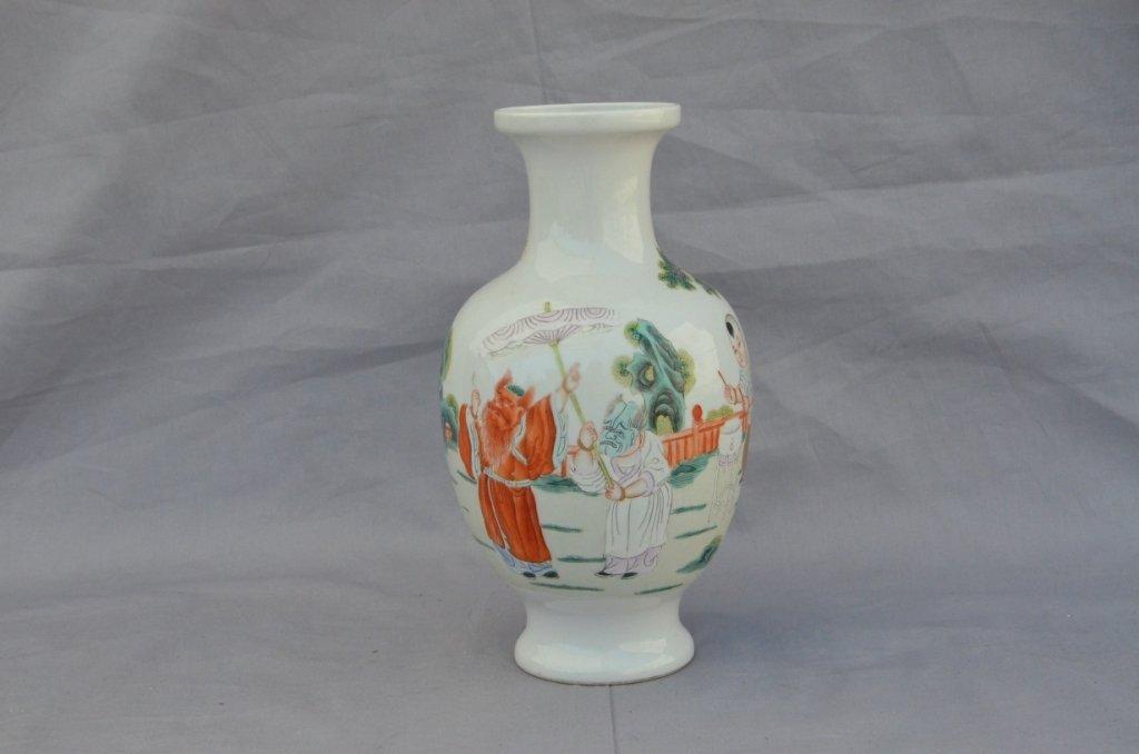 Famille Rose Ghost Buster Vase