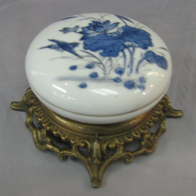 Qing Wha Hand Painted Stamp Ink Box