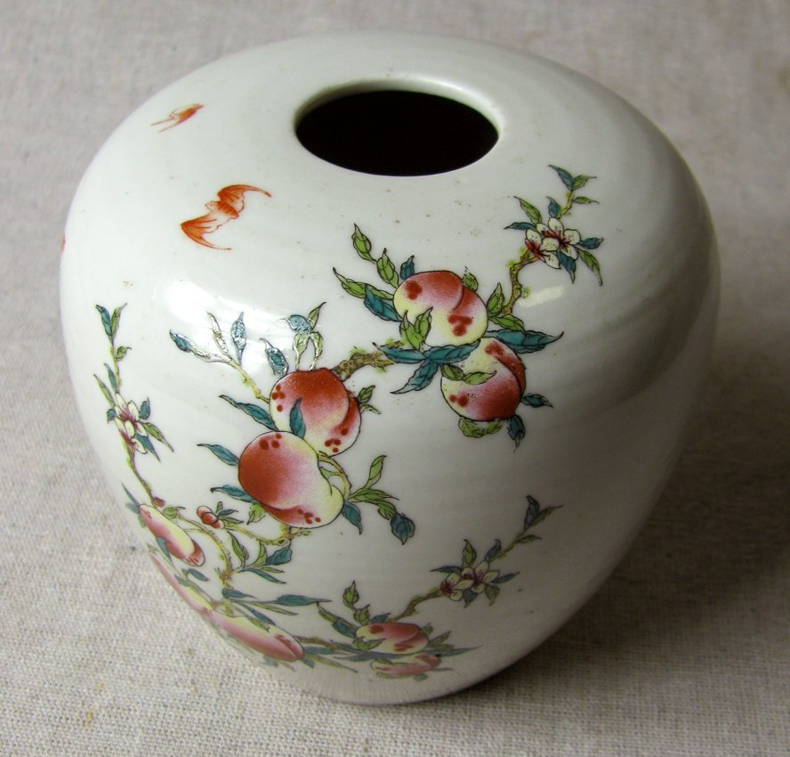 19th C Chinese Famille water Jar