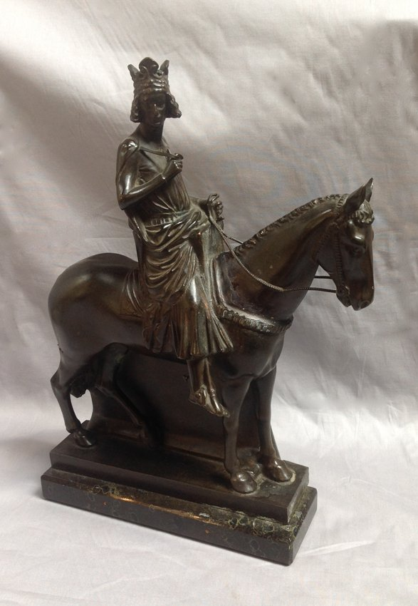 """19th C Iron Horse And """"Bomberg"""" Rider Decorated On One"""