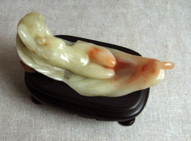 Nude Carved on Dual Tone FuRon-ShouShan Stone