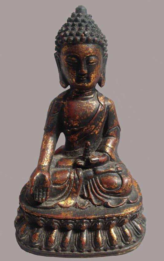 Gold Bronze Seated Buddha