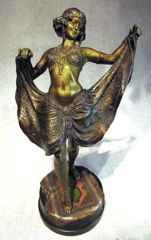 An Antique 19th C. Bronze Dancing Lady