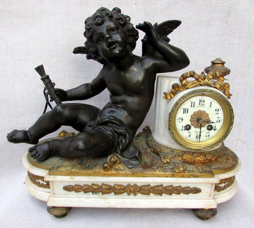 A 19th C. French Angel Clock
