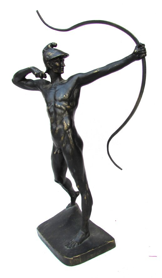 A Greek Bronze Archer Statue