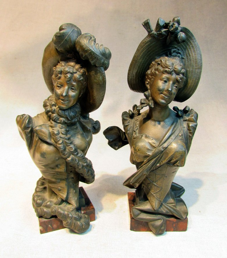 A Twin French Art Nouveau Ladies