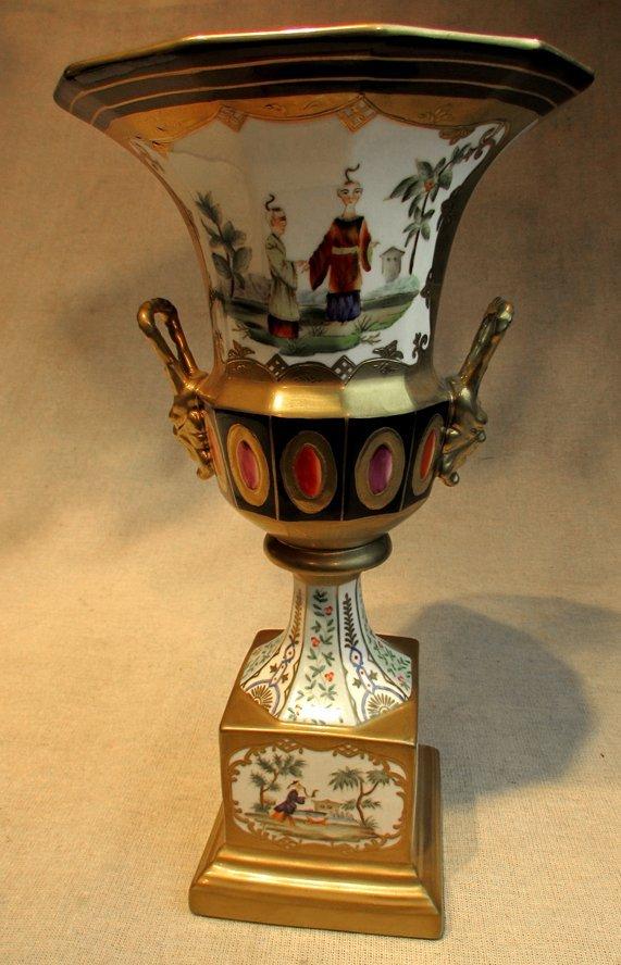 A Hand Painted Chÿvez Zanier Porcelain Urn