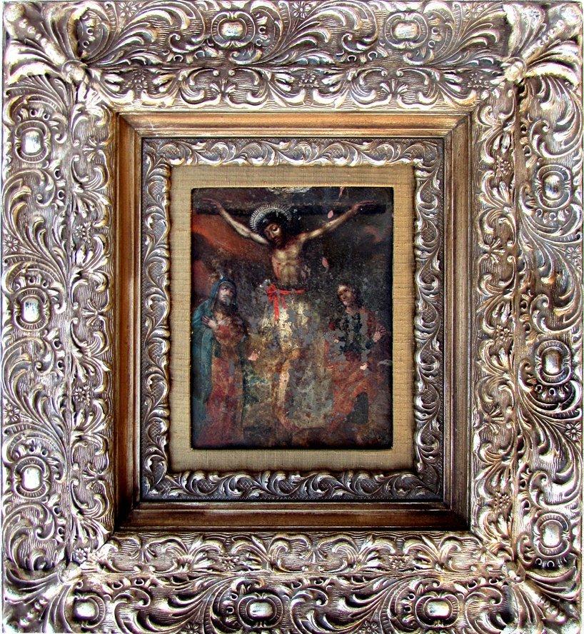 An Antique Jesus Oil Painting