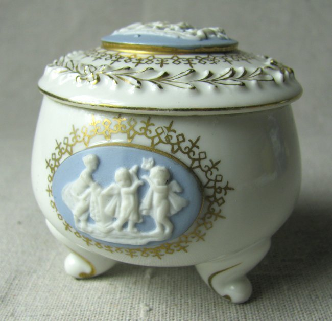 French Porcelain Sculpted Mini Vessel
