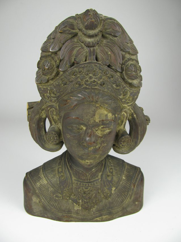 Old Wood Carved Minority Woman