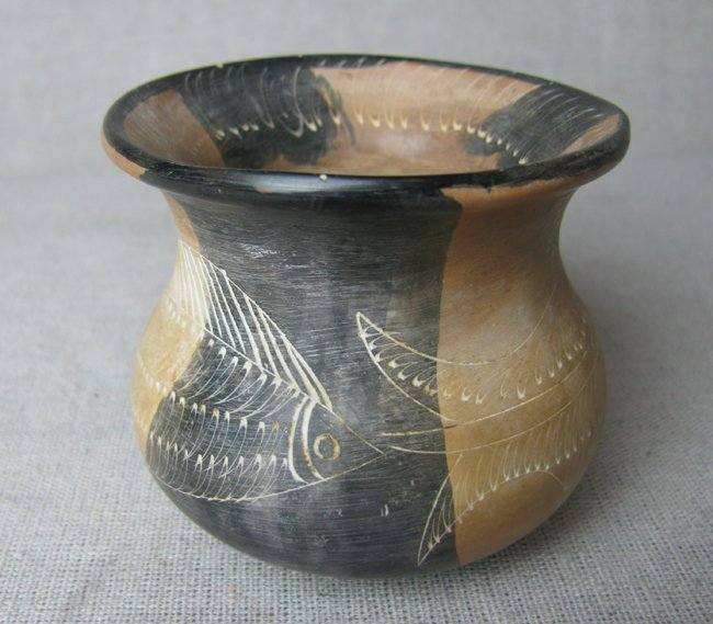 Hand Carved Rock of Spit Jar