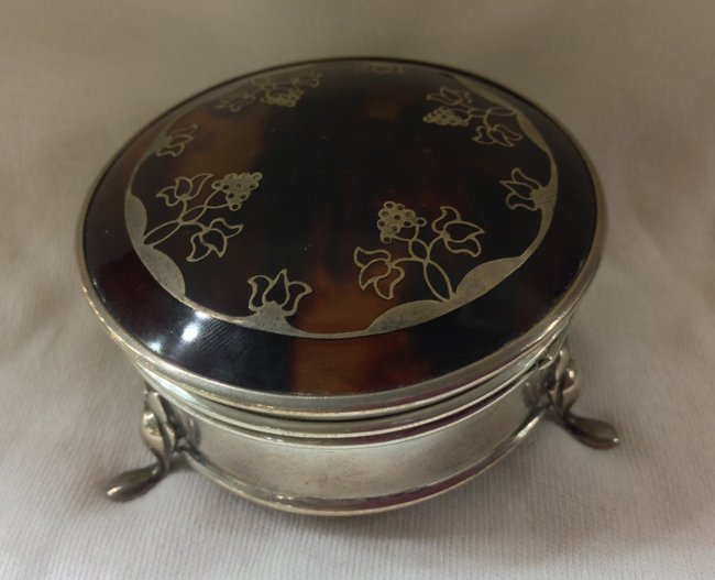 Antique Hawksbill/Silver Jewerly Box