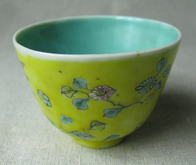 Porcelain Hand Painted Yellow Bowl