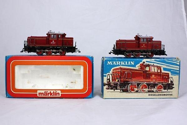 Märklin - 2x 3065 Diesellokomotive im OK