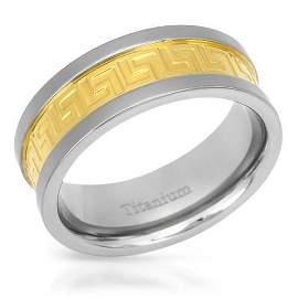 Gold plated men's ring
