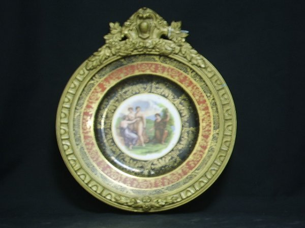 24: FRENCH HAND PAINTED PORCELAIN PLATE