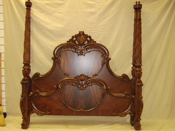 149: KING SIZE FRENCH STYLE POSTER BED