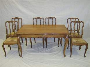 COUNTRY FRENCH STYLE OAK DINING ROOM SUITE