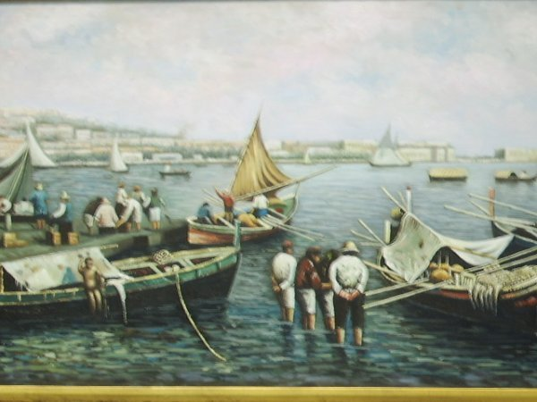 336: OIL ON CANVAS PAINTING VENICE