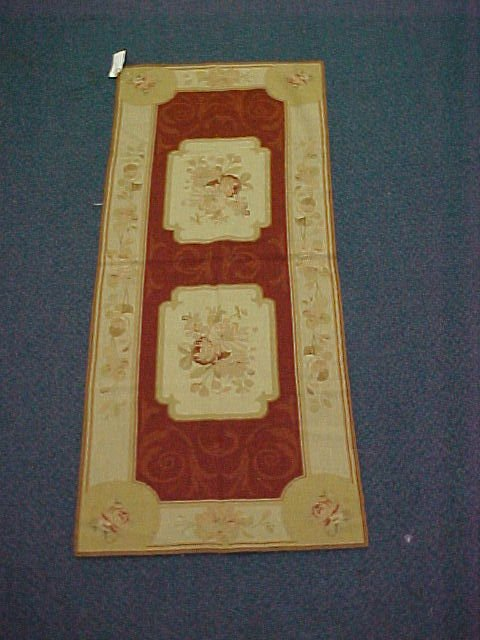 109: 2'6 X 6'7 NEEDLEPOINT HANDTIED EXCELLENT CONDITION