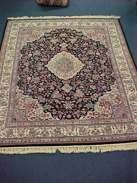 111: 8 X 10 KASHAN HANDTIED EXCELLENT CONDITION