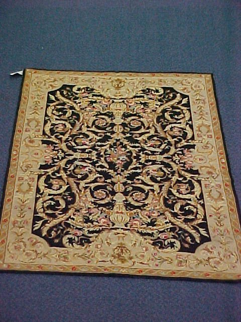 114: 4 X 6 NEEDLEPOINT HANDTIED EXCELLENT CONDITION