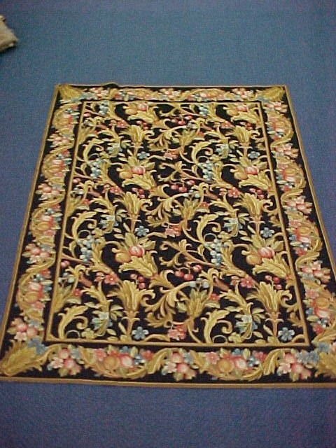 115: 6 X 9 NEEDLEPOINT HANDTIED EXCELLENT CONDITION