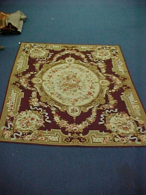 140: 8 X 10 NEEDLEPOINT HANDTIED EXCELLENT CONDITION