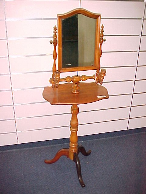 1017: FINE EARLY NEW ENGLAND SHAVING STAND EARLY 19TH C