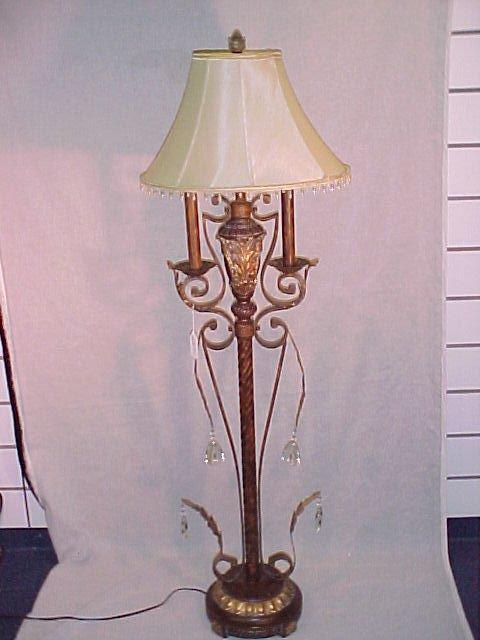 """1001: DESIGNER FLOOR LAMP W/ SHADE 64"""" T 20""""D"""