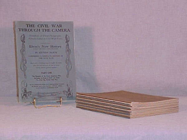 "1002: 16 VOL. ""The Civil War Through The Camera"" 1912 O"