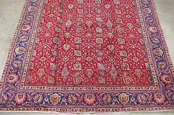 2: 9'9 x 12'10 Antique Persian Tabriz Red, bl