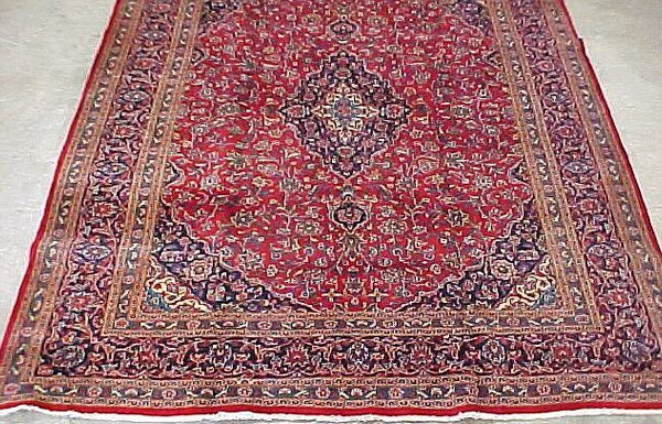 4: 9'10 x 12'10 Antique Persian Kashan Cond.