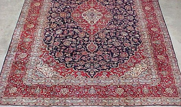 6: 10' x 13'9 Antique Persian Kashan Red and