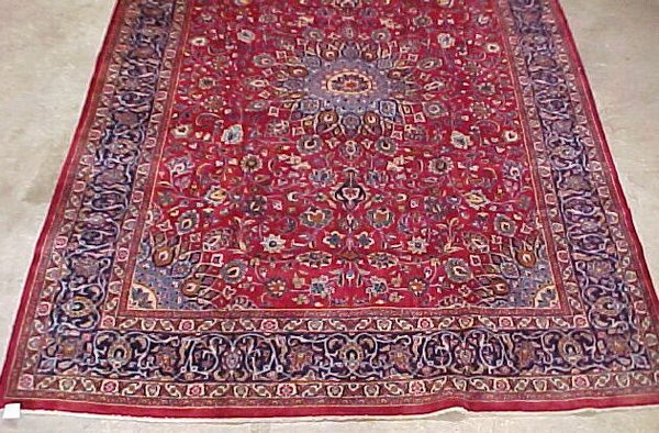 7: 9'8 x 13'4 Antique Persian Isfahan Red and