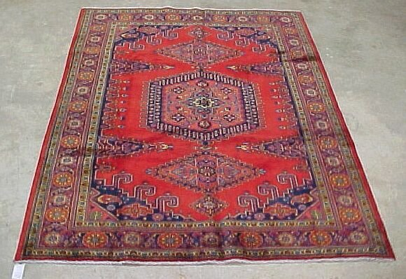 13: 7' x 9' Antique Persian Mahal Condition H
