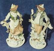 344: Pr. Occupied Japan Figurines Man & Woman