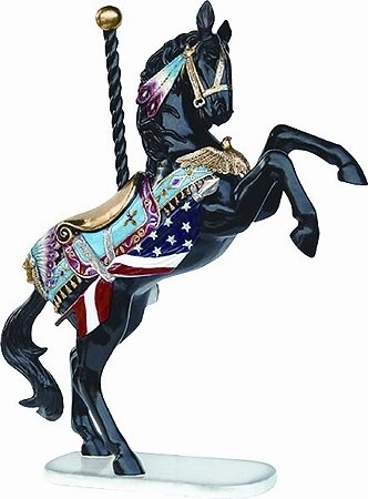 1213: PRANCING CAROUSEL HORSE