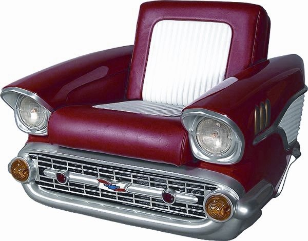 1218: CHEVY BEL-AIR  GAME ROOM CHAIR