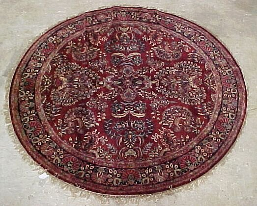 507: 8' x 8' Round Super Saruck Burgundy, Blu