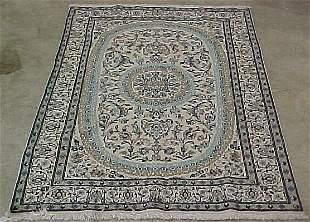 6'3 x 9'6 Persian Nain Cream, Blue Condi