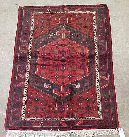 521: 4'3 x 6'5 Antique Persian  Condition Dam