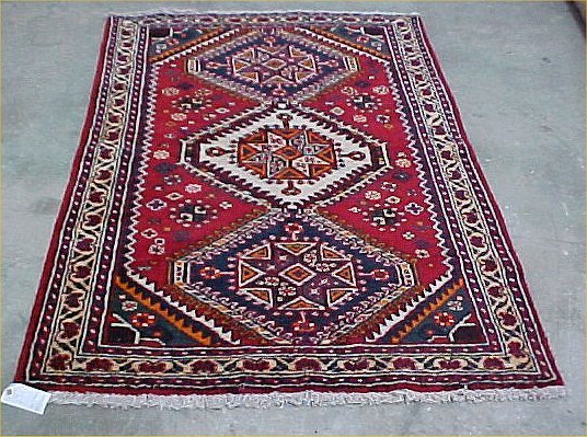 522: 4'2 x 6'3 Antique Persian Condition Good